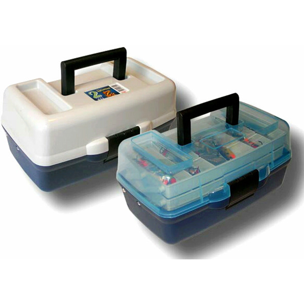 Ящик пластиковый 1702Т AQUATECH 2 полки с прозрачной крышкой
