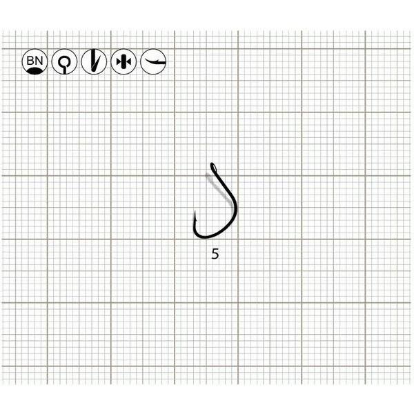 Одинарные крючки KAIZU-R (BN)