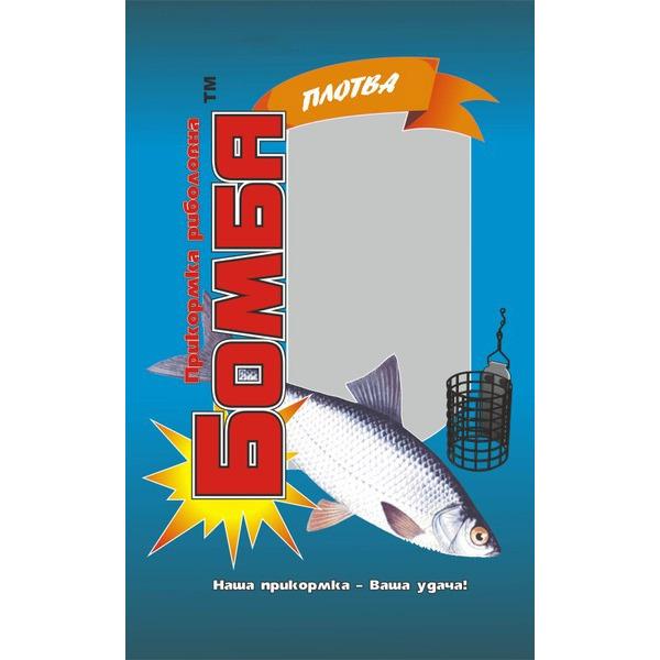 Прикормка рыболовная Бомба Плотва 1 кг