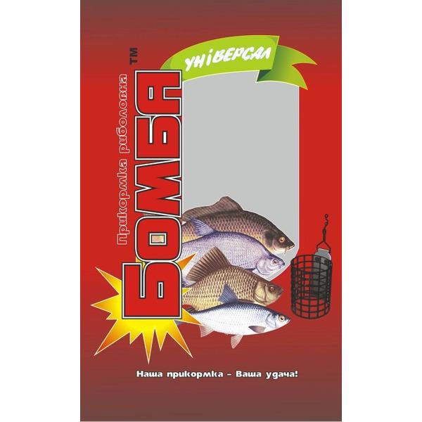 Прикормка рыболовная Бомба Универсал 1 кг