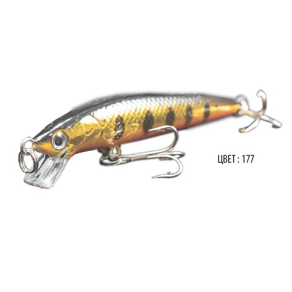 Воблер AZTEK M, 80 мм, 5,4 г, цвет 177, для ловли щуки, судака, окуня