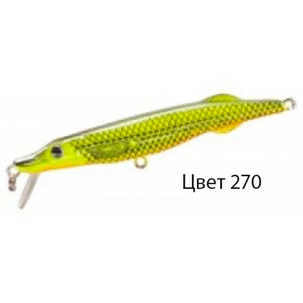 Воблер PIKKIE S, 105 мм, 8,6 г, цвет 270, для ловли щуки, судака, окуня